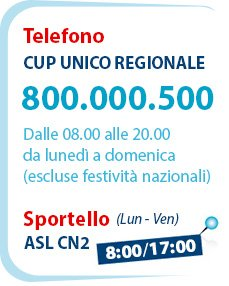 CUP regionale - ASL CN2